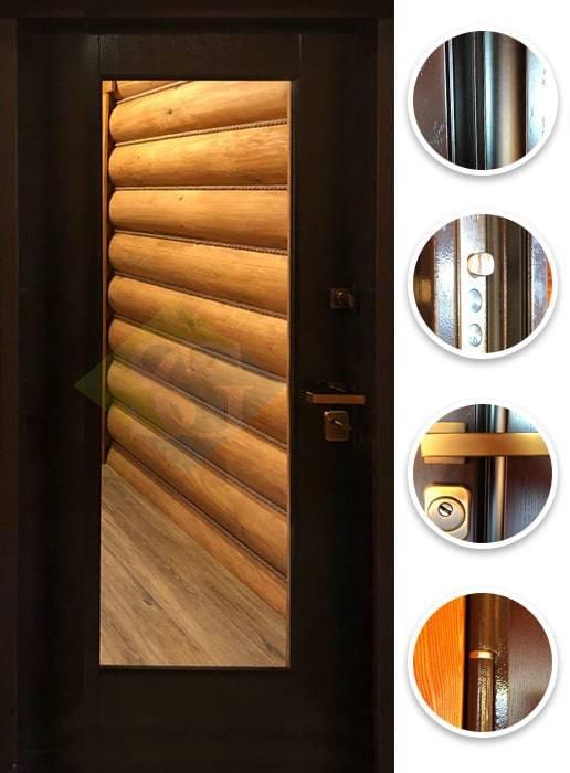 Входные металлические двери для бани